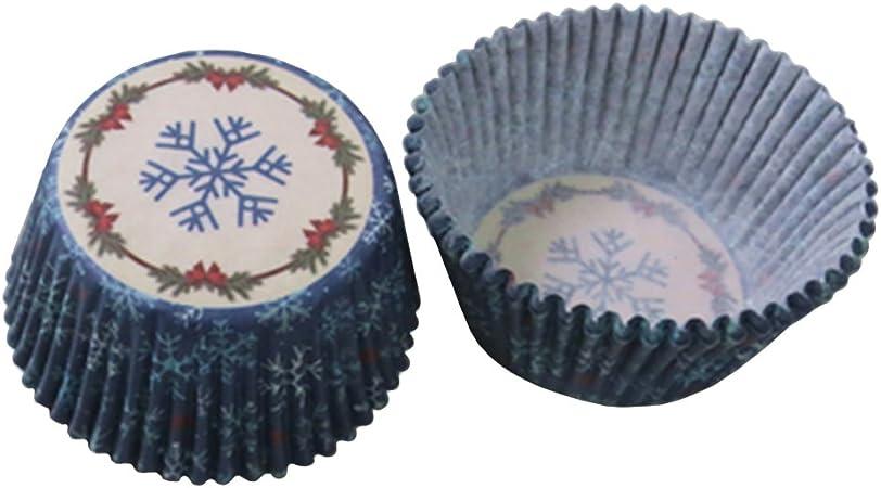 Beiersi Caissette /à Cupcakes Lot de 100 Papier pour Muffins Gateau Moule P/âtisserie Assorties D/écor No/ël Halloween Soiree de Mariage-Plusieurs Styles Style 1