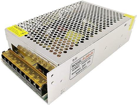 AC 110V 220V A DC 24V 10A 240W Transformateur de tension dalimentation pour la bande de LED TOOGOO R