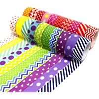 Mungowu 20 Rolls Washi Tape Set, 15mm Wide Decorative Color Tape for DIY Diary, DIY Decoration and Craft Supplies