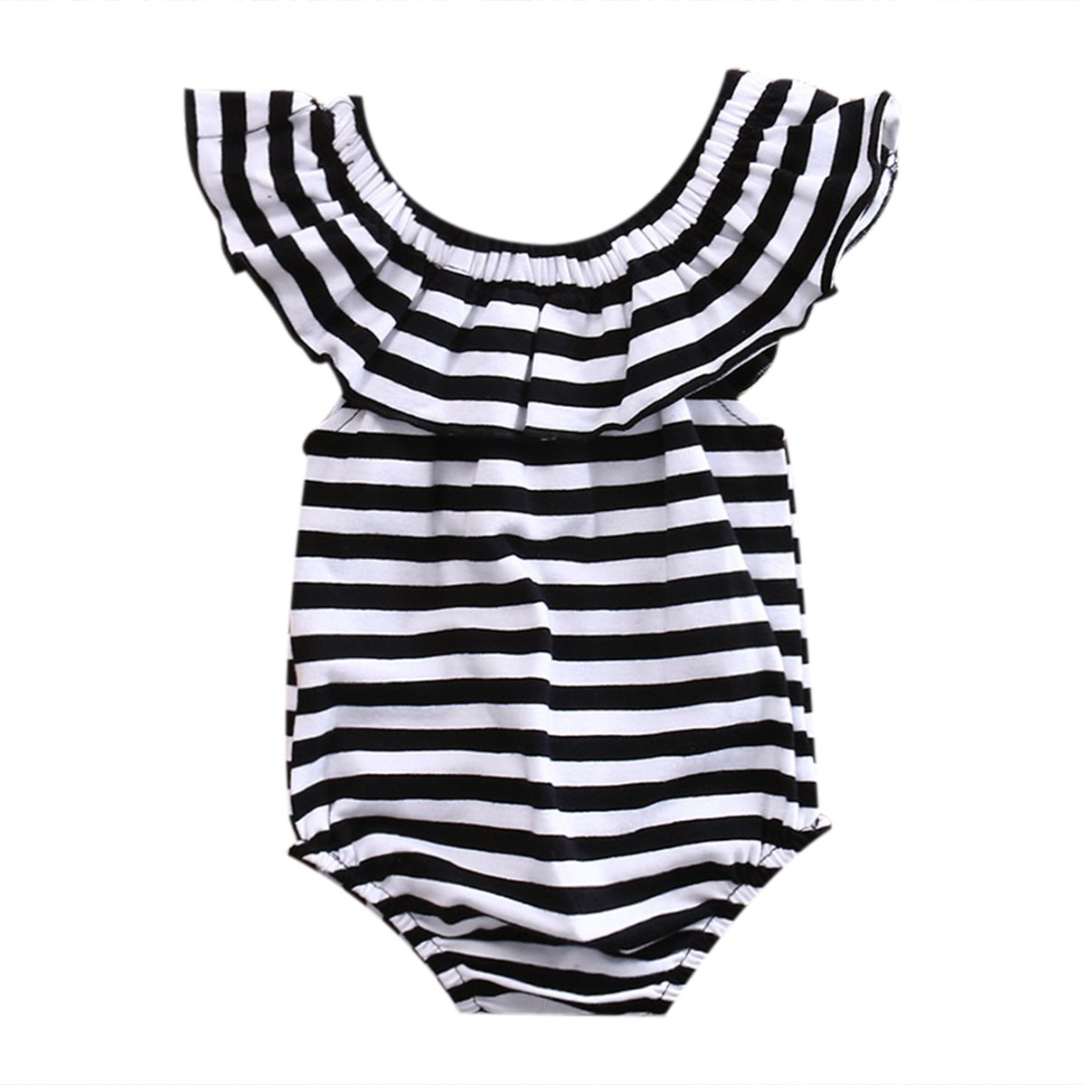 Newborn Toddler Baby Girls Jumpsuit Romper Bodysuit Cotton Outfits Clothes 0-24M