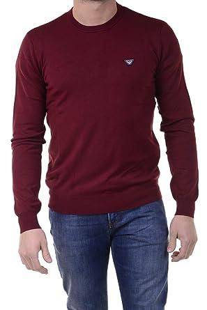 e0a999d9698 Armani Jeans T-Shirt ras du cou Bordeaux - violet - XXXL  Amazon.fr ...