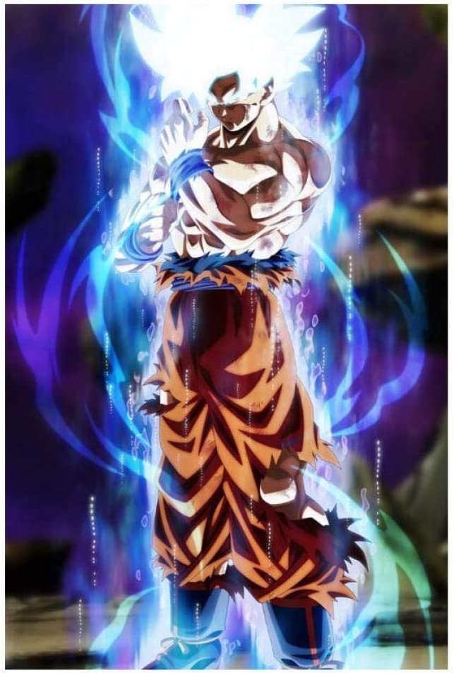 Prints On Canvas 1 Piece Dragon Ball Super Goku Ultra Instinct Mastered Print Poster Wall Art Painting Home Decoration 60x90cm With Frames Amazon Co Uk Kitchen Home