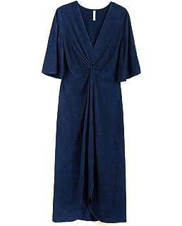 ... Mehrfarbig Braun Grau X-Small · EUR 13,58 · Mango Damen Long Textured  Dress 31065009 0745074a22