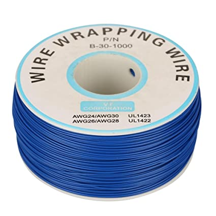 200M/Roll 30AWG Single Wrapping Copper Wire, Strand Cable 0.25mm Electrical Core Diameter for Laptop Motherboard PCB Solder - 5 Colors