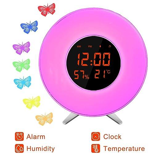 Reloj despertador Sunrise X-70/ Función Snooze/Pantalla LED ...