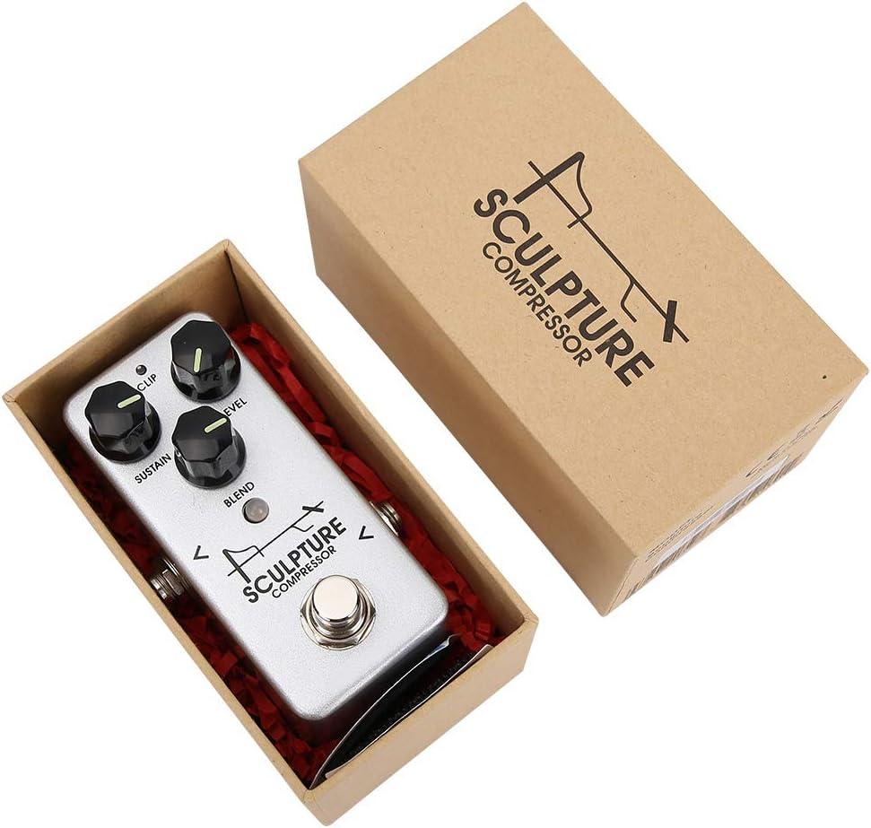 Bnineteenteam Compresor de Efectos, Pedal de Efectos de Guitarra Accesorios de Pedal de compresión