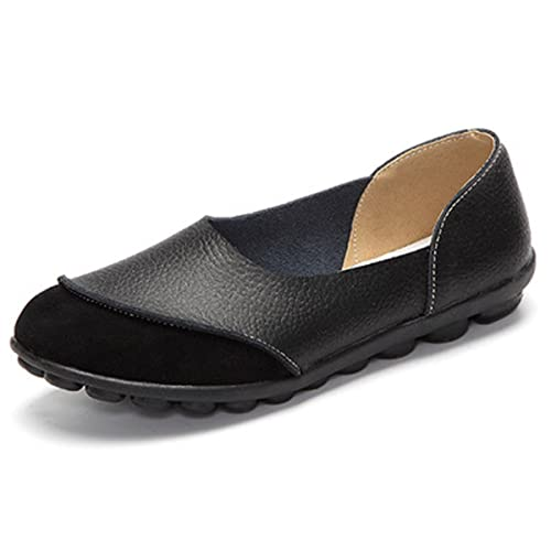 6a5e5362ef18 Orangetime Women Slip On Flats Casual-Soft Breathable PU Leather Boat Shoes  Comfort Driving Shoes