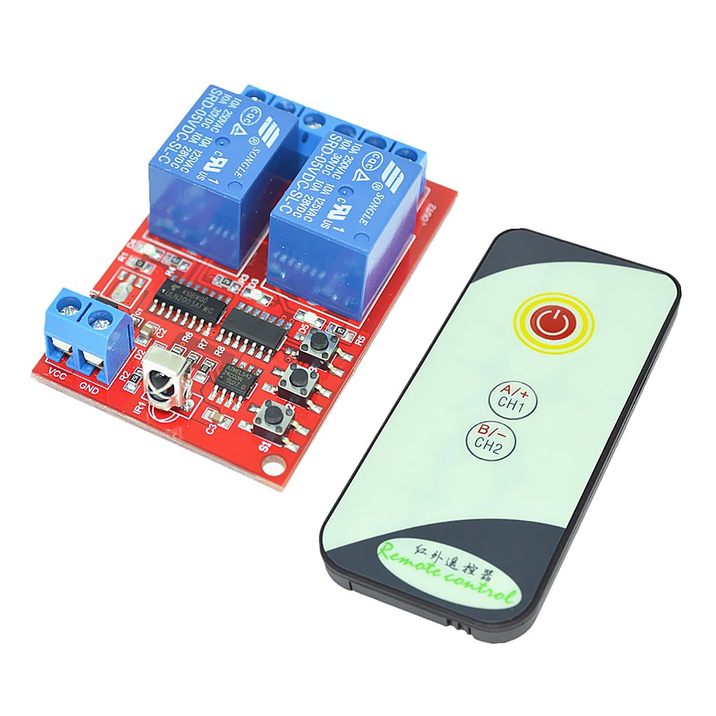 Monkeyjack 5v 2 Channel Infrared Remote Control Relay Module With 3 Ir Switch Circuit And Applications Key Set