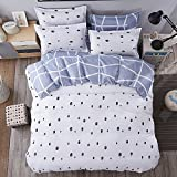 Beauty Decor Minimalistic Style Duvet Cover Set Abstract Geometric Bedding Sets Lightweight Microfiber Comforter Cover with Pillow Shams, King Size