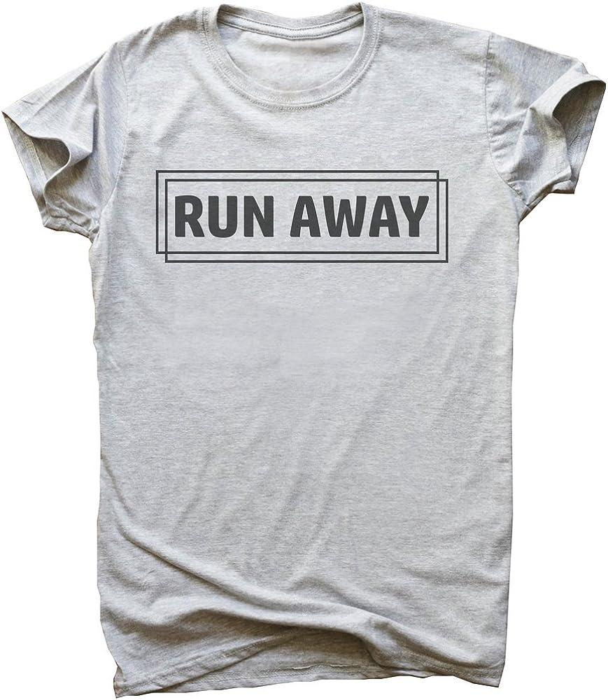 IDcommerce Run Away Hipster Frame Design Mens T-Shirt
