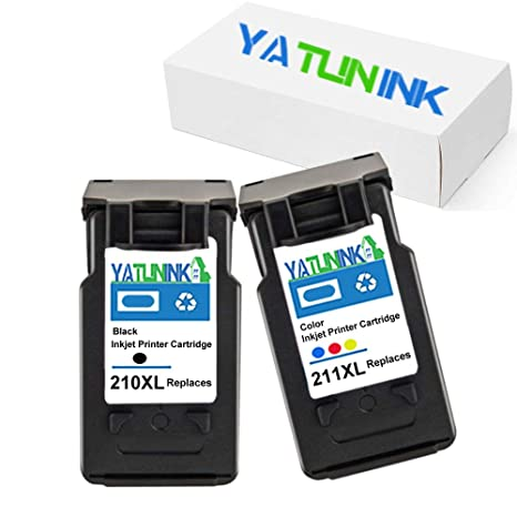 YATUNINK 2PK PG 210XL Black Ink Cartridge CL 211XL Tri Color