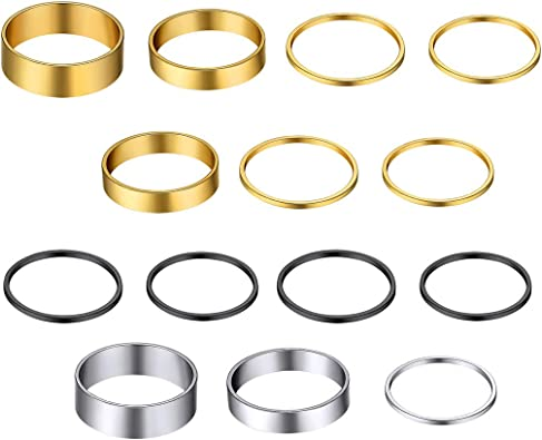 Cheap Ring Sets for Women Minimalist Ring Sets Gold Ring Set Skinny Ring Silver Ring Set Dainty Rings Stackable Rings 7pcs Ring Set