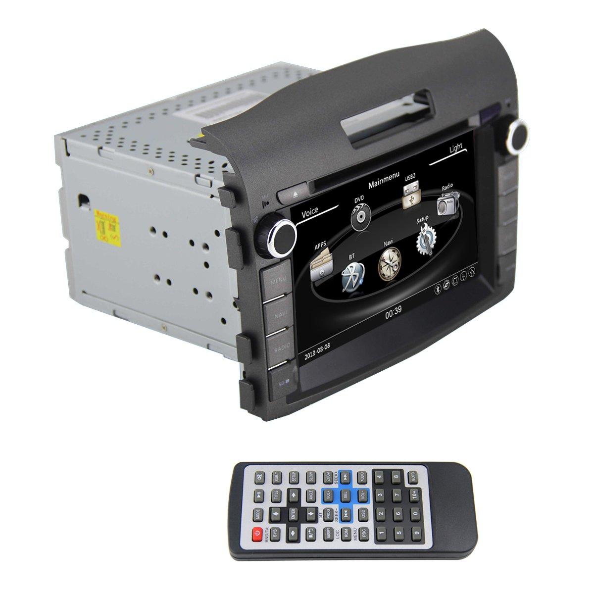 qsicisl 8インチHonda CRV 2012年のダッシュダブルDIN車DVDプレーヤーHDデジタルタッチ画面車ラジオステレオGPSナビゲーションマルチメディアプレーヤーwith NaviサポートBluetooth / SD / FM / AM / DVR / 1080p B077XP6RQW