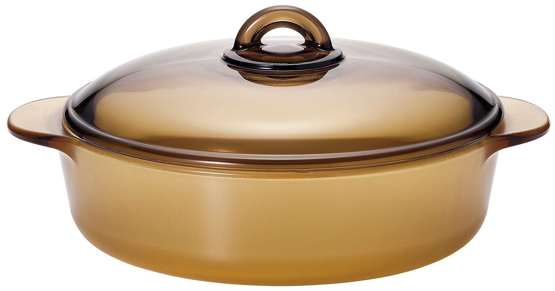アデリア 耐熱ガラス こびりつかない 直火対応 ココット鍋 セラベイクファイア アンバー 2.3リットル K-9468 B00XIWNJAK 2.3L ゴールド ゴールド 2.3L