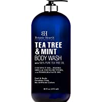 BOTANIC HEARTH Tea Tree Oil Body Wash with Mint - Paraben Free, Helps Fight Body Odor, Athlete's Foot, Jock Itch, Skin…