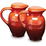 Le Creuset Stoneware 3-Ounce Salt and Pepper Shaker Set, Red