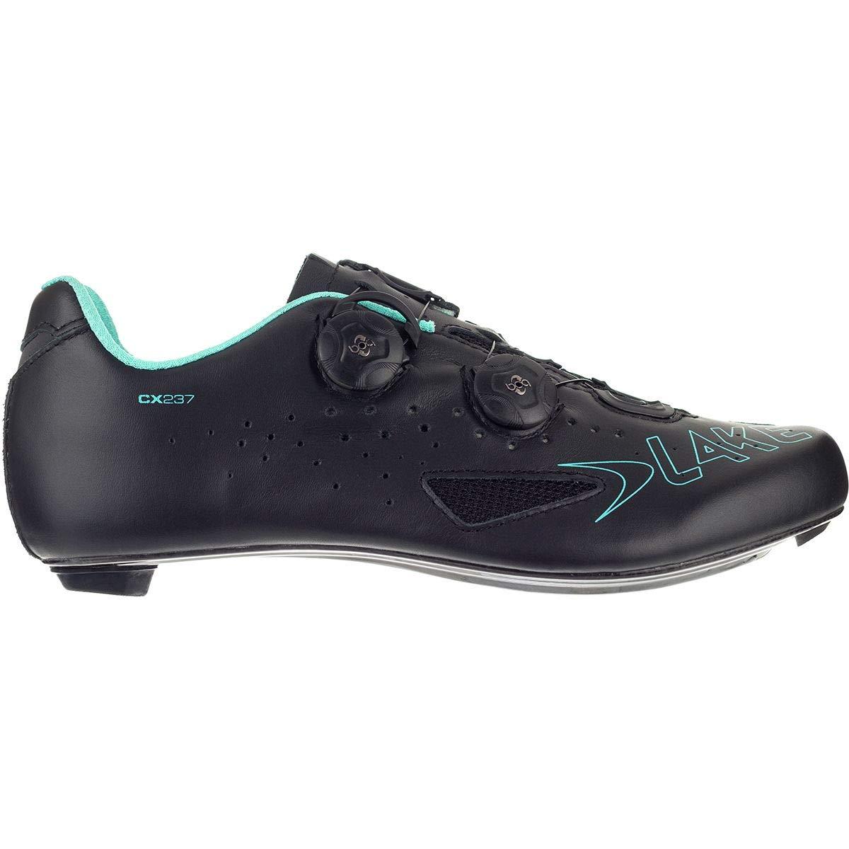 Noir bleu Lake Cx237 Route Carbone Twin Boa Road Chaussures, Noir Bleu 43 EU