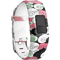 SKYLET Compatible with Garmin Vivofit 3 /JR/JR.2 Bands, Soft Silicone Bands Compatible with Garmin Vivofit 3 JR JR.2 Bracelet with Secure Watch Buckle Kids Women Men (No Tracker)