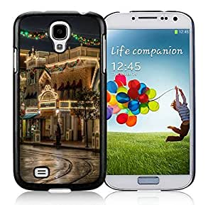 2014 Latest Lovely Samsung S4 TPU Protective Skin Cover Christmas Street Black Samsung Galaxy S4 i9500 Case 1