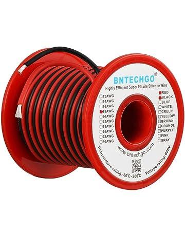 52c8a7be504 BNTECHGO 18 Gauge Silicone Wire Spool 50 feet Ultra Flexible High Temp 200  deg C 600V