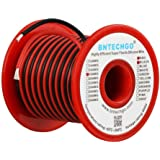 BNTECHGO 18 Gauge Silicone Wire 50 feet [25 ft Black And 25 ft Red] High Temperature Resistant Soft and Flexible 18 AWG Silicone Wire 150 Strands of copper wire