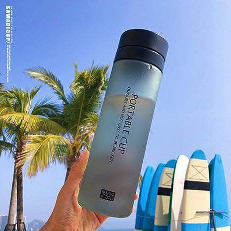 Simple Modern Botella de Agua,Compartimento de té de gran capacidad con protección para el medio ambiente, vidrio de mano, botella de agua plástica para deportes al aire libre, negro,sin bpa Botellas: Amazon.es: