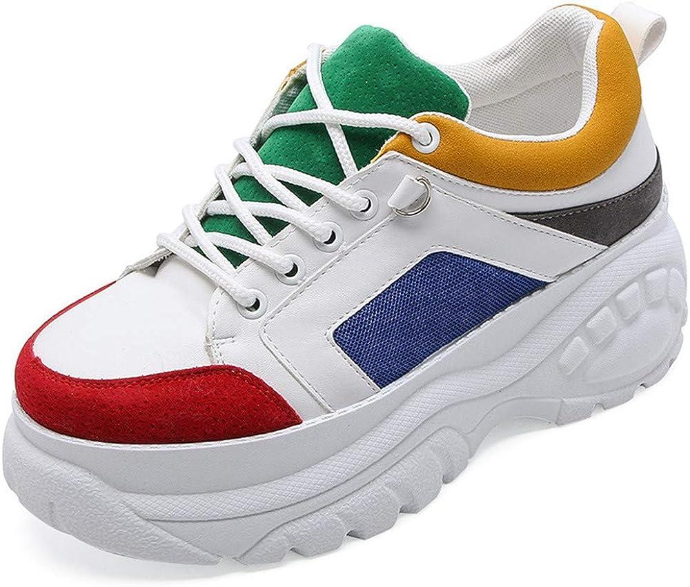 Zapatos Casuales - Mocasines de Suave cómodos Antideslizantes para MujerPlataforma de Costura de Color Zapatos Color 38.: Amazon.es: Zapatos y complementos