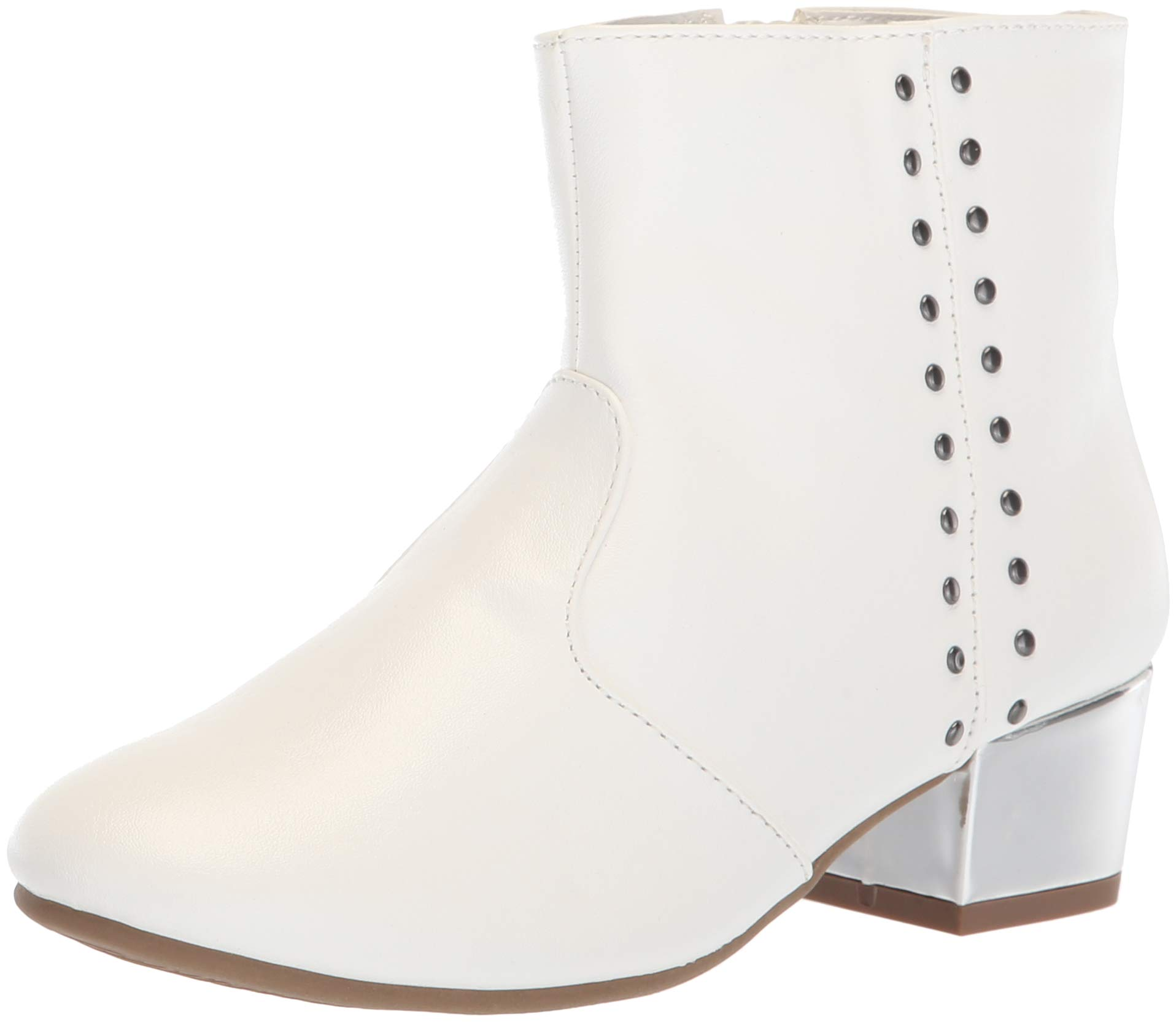 The Children's Place Girls' Bootie Fashion Boot, White, Youth 3 Child US Little Kid by The Children's Place (Image #1)