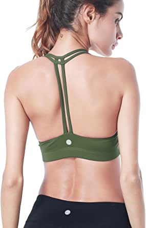 QUEENIEKE Womens Yoga Sport Bra Light Support Strappy Free to Be Bra
