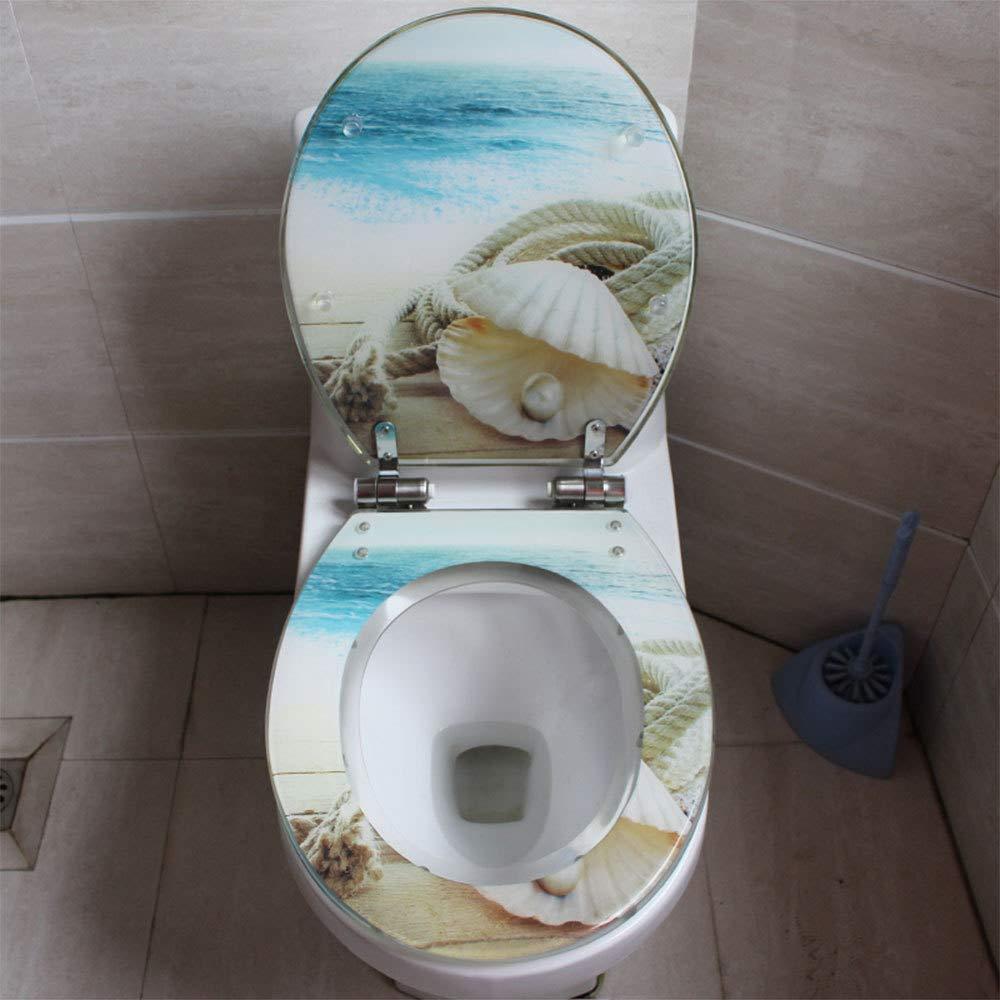 S-graceful Asiento De Inodoro Resina Cubierta De Inodoro Universal Cubierta De Inodoro Descendente U//V//O Engrosamiento De La Tapa WC,A