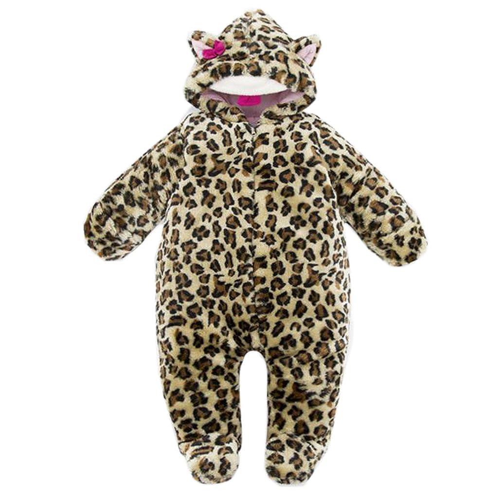 Ikerenwedding Baby Girls Boys Bear Jumpsuit Winter /& Autumn Romper Outfits Suit