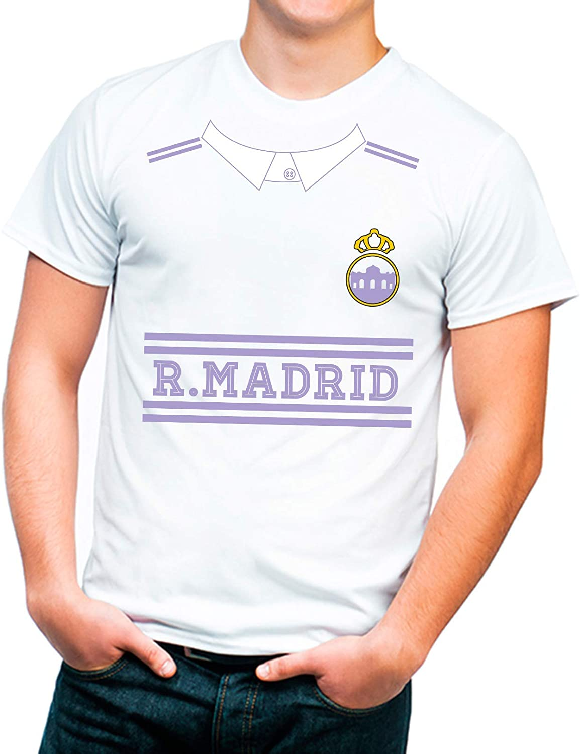 Camiseta Animo Al Real Madrid Talla Adulto. Algodón 100%: Amazon ...
