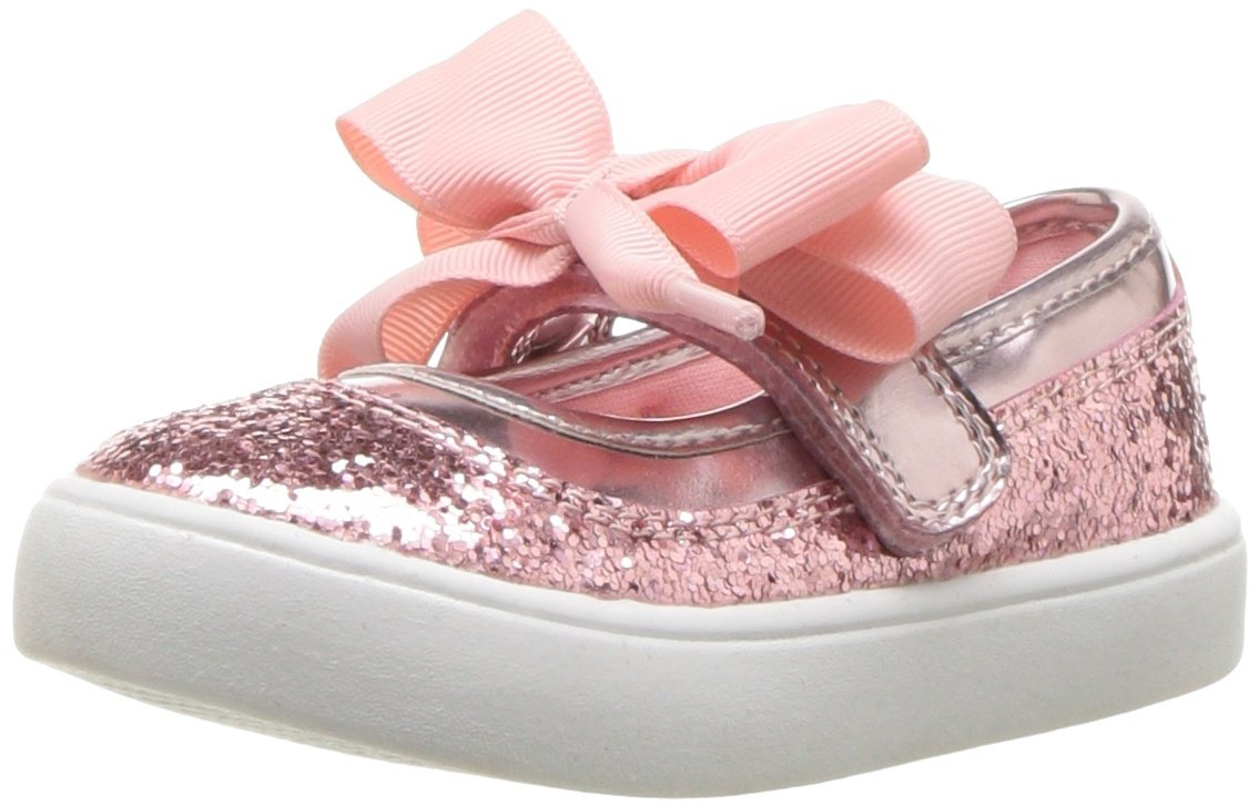 Carter's Girls' Alberta Bow Mary Jane Flat, Pink, 3 M US Little Kid by Carter's (Image #1)
