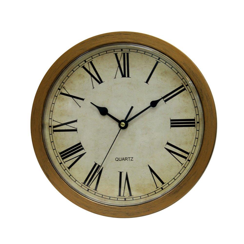 BESTOMZ Orologio da parete vintage sicuro grandi gioielli segreti orologi di sicurezza Soldi contanti assortimento gioielli box Stash (Bronzo)