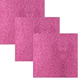 "Office Products : Siser EasyPSV Glitter Permanent Self Adhesive Craft Vinyl 12"" x 12"" Sheets 3 Pack (Pink Flirt)"