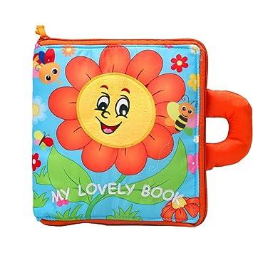 Rameng Livres De Bebe En Tissu Jeu Educatif 3d Fleur Du