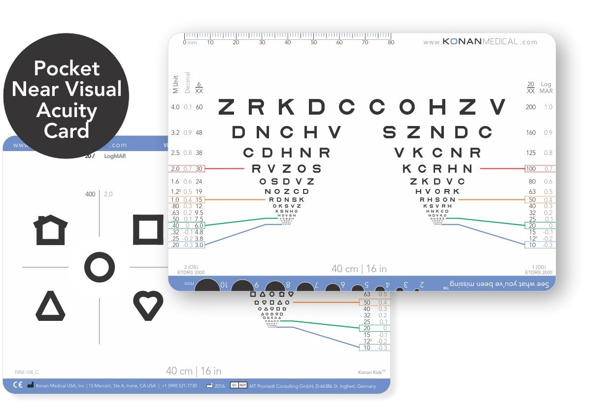 Amazon jaeger eye chart near vision reading test plastic chart konan pocket near visual acuity card nvjuhfo Gallery