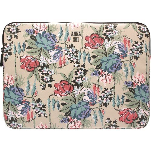 Sui Bags Anna - Anna Sui Cabbage Rose Computer Laptop Sleeve Bag 13