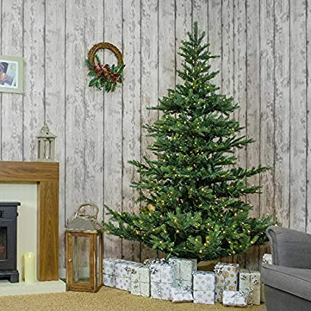 The Winter Workshop - 7ft / 210cm Prelit Calgary Fir Artificial Christmas  Tree - PVC and - The Winter Workshop - 7ft / 210cm Prelit Calgary Fir Artificial