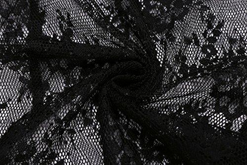 1 Donna Sottogonna modellanti Jupe ADOME Noir HXzxq