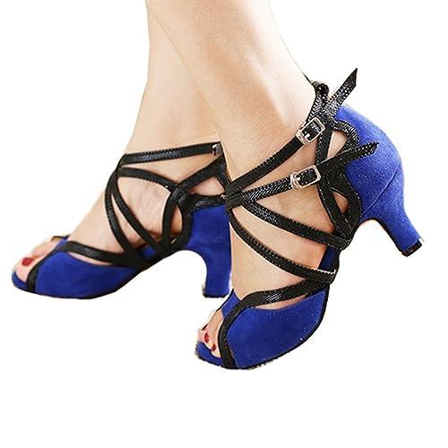Toe Zapatos Sexy Baile Para Latino De Mujeres Open Salón 0qdRFq