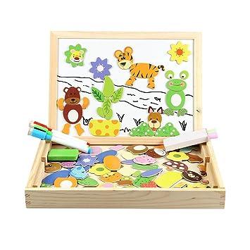 Puzzles en Bois Magnétiques | Puzzle 100 Pièces avec Tableau ...