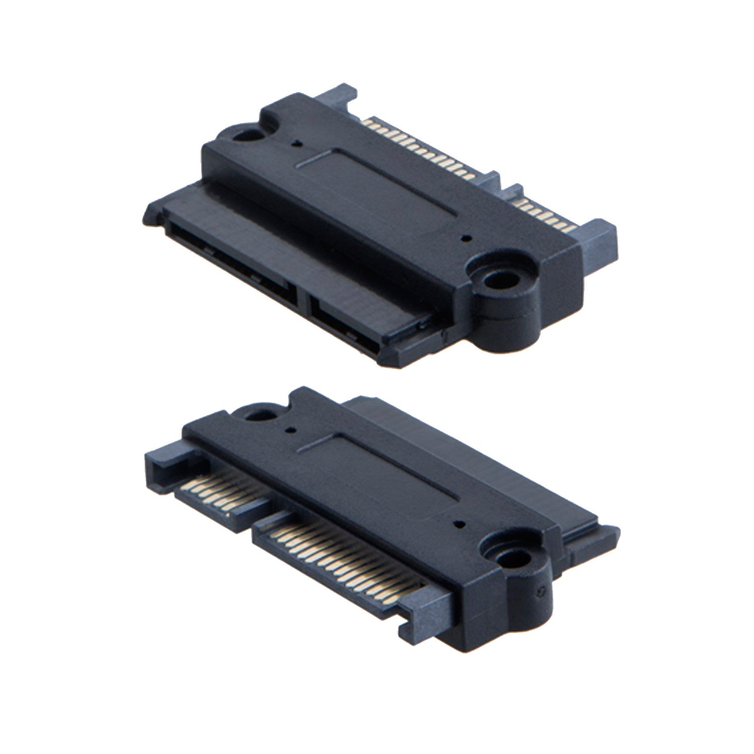 CableCreation 2-Pack SATA 22Pin (7+15 Pin) Male to SATA 22 Pin (7+15Pin) Female Adapter Convertor, Sata Male-Female Adapter