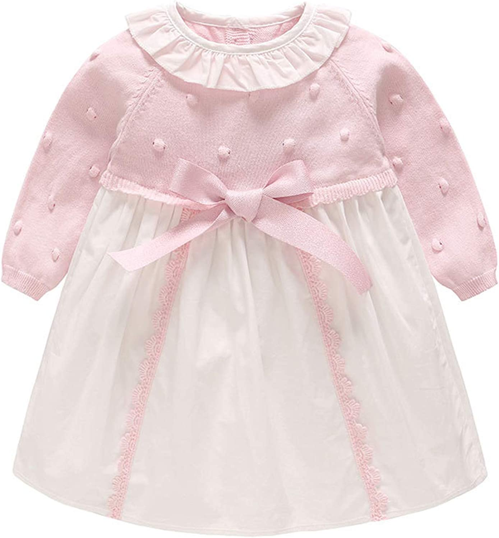 Amazon.com: Newborn Girl Baby Dresses Long Sleeve Peter Pan Collar