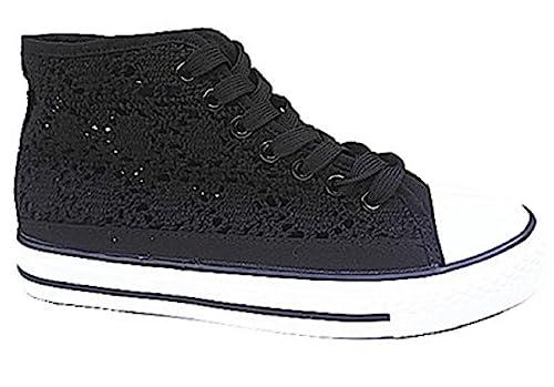 fashionfolie Zapatillas de Deporte de Lona Mujer: Amazon.es: Zapatos y complementos