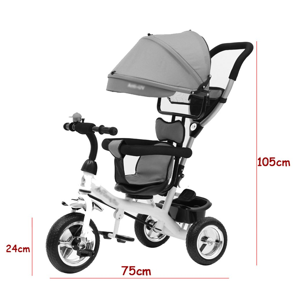 Amazon.com : Gai Hua Home Stroller Toys Childrens Tricycle Childrens Bicycles Baby Trolleys Baby Tricycles (Color : Red) : Baby