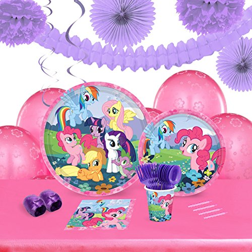 My Little Pony Friendship Magic Childrens Birthday Party Supplies - Tableware and Decoration Pack (Pinky Costumes)