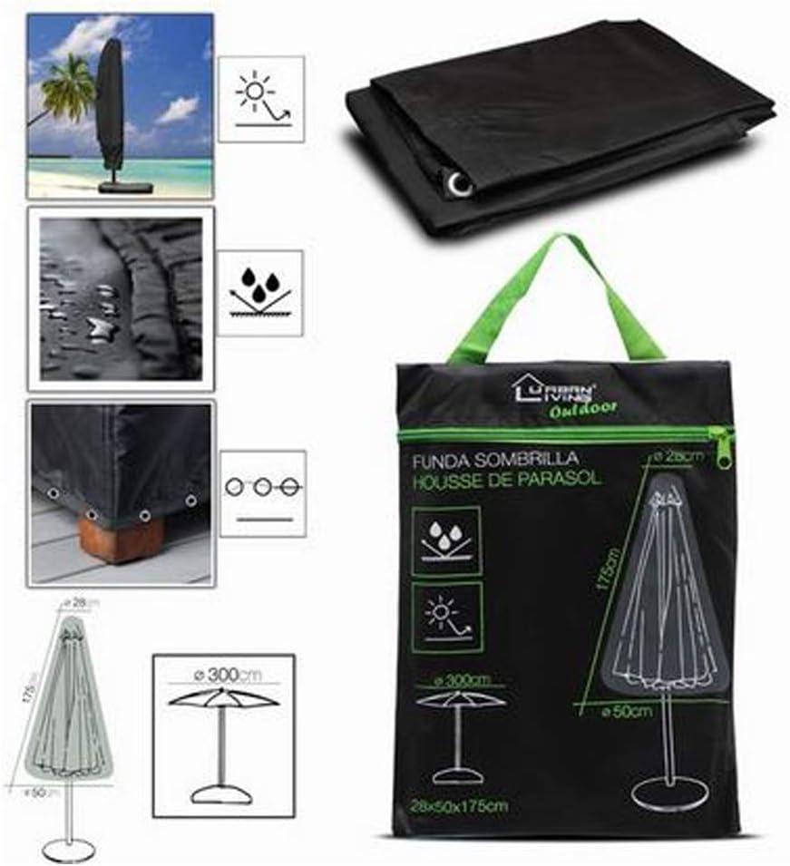 Cisne 2013, S.L. Funda Impermeable para sombrilla o Parasol para la Playa o Piscina. Funda Protege sombrilla Resistente al Viento y Polvo. Medidas 175x28x50cm