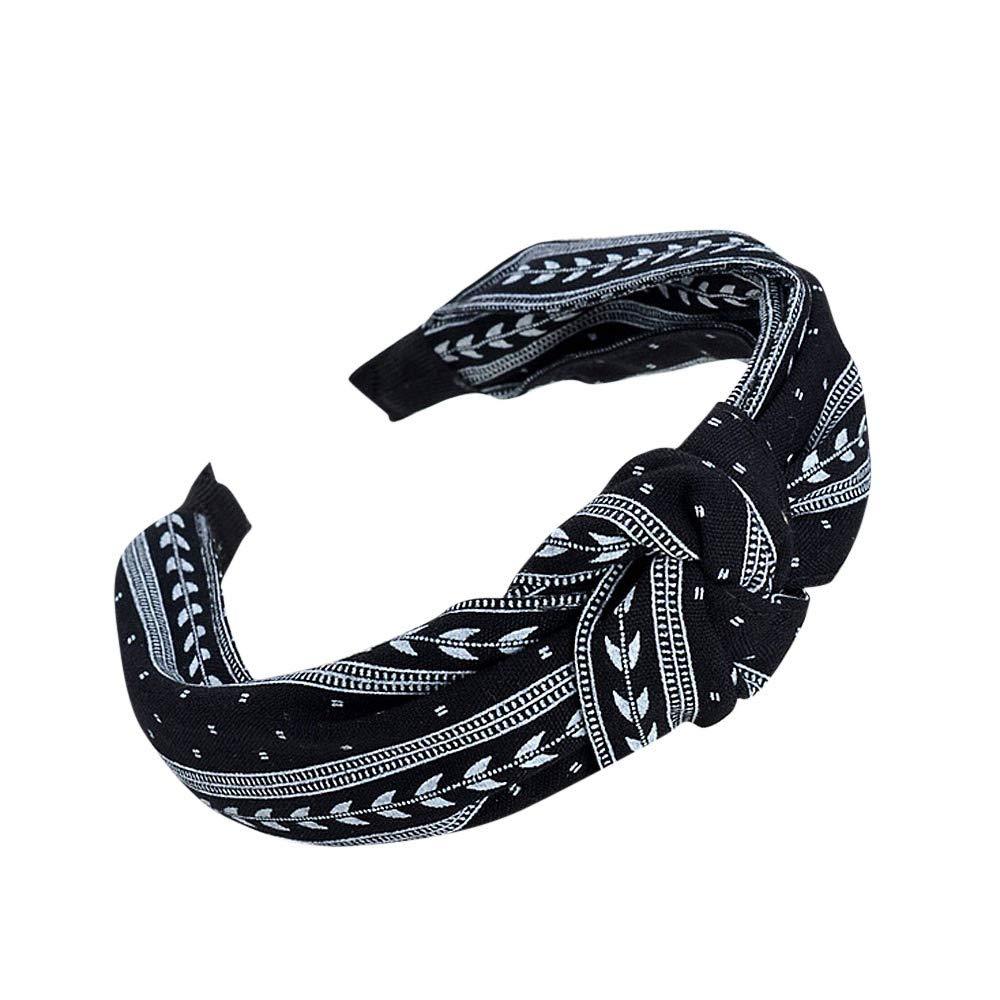 MERICAL Womens Yoga Elastic Cute Hairband Turban Knotted Hair Band Bandanas Headband