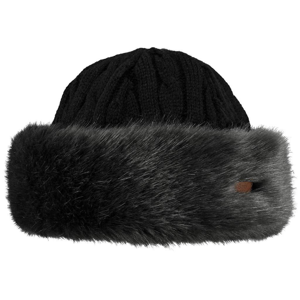 Barts Damen Baskenmütze Fur Cable Grau (Grigio) 15-0000001630